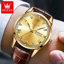 OLEVS Men Quartz Wristwatch Male Watch Luxury Brand Men's Watches 2021 Calendar Week Display Man Wat