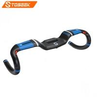 TOSEEK Full Carbon Fiber Handlebar bent bar Road Bicycle Handlebar UD Matte Broken Wind Bent bars 31.8*400/420/440mm Blue