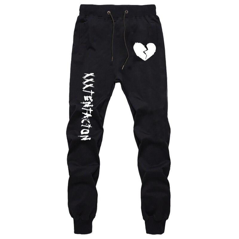Осенние спортивные штаны в стиле Харадзюку для мужчин, модные штаны с принтом XXXtentacion для мальчиков-подростков, джоггеры, тренировочные штан...