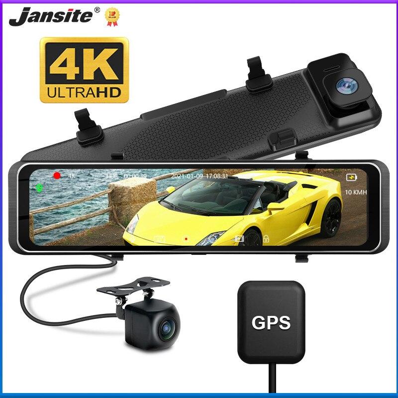 Jansite 11,26 дюймов двойной видеорегистратор Автомобильный видеорегистратор зеркало заднего вида 4K UHD 3840*2160P регистратор Автомобильная камера р...