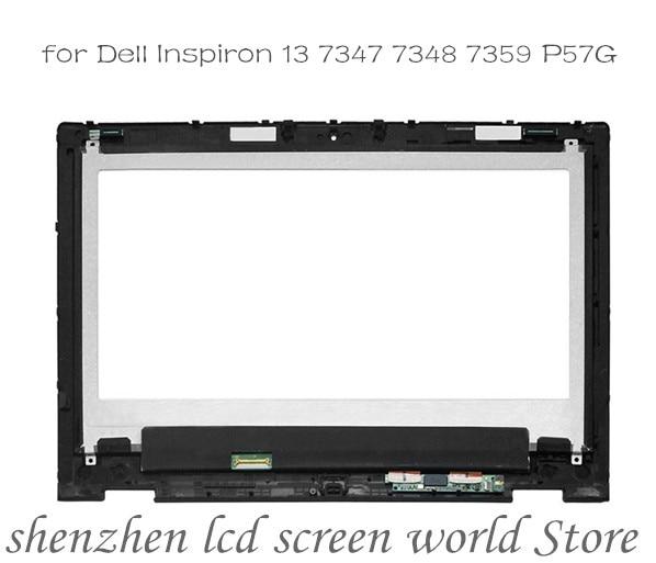 Para Dell Inspiron 13 7000 7347 7348 7359 P57G LTN133HL03-201 NV133FHM-N45 pantalla LCD completa digitalizador pantalla montaje + bisel