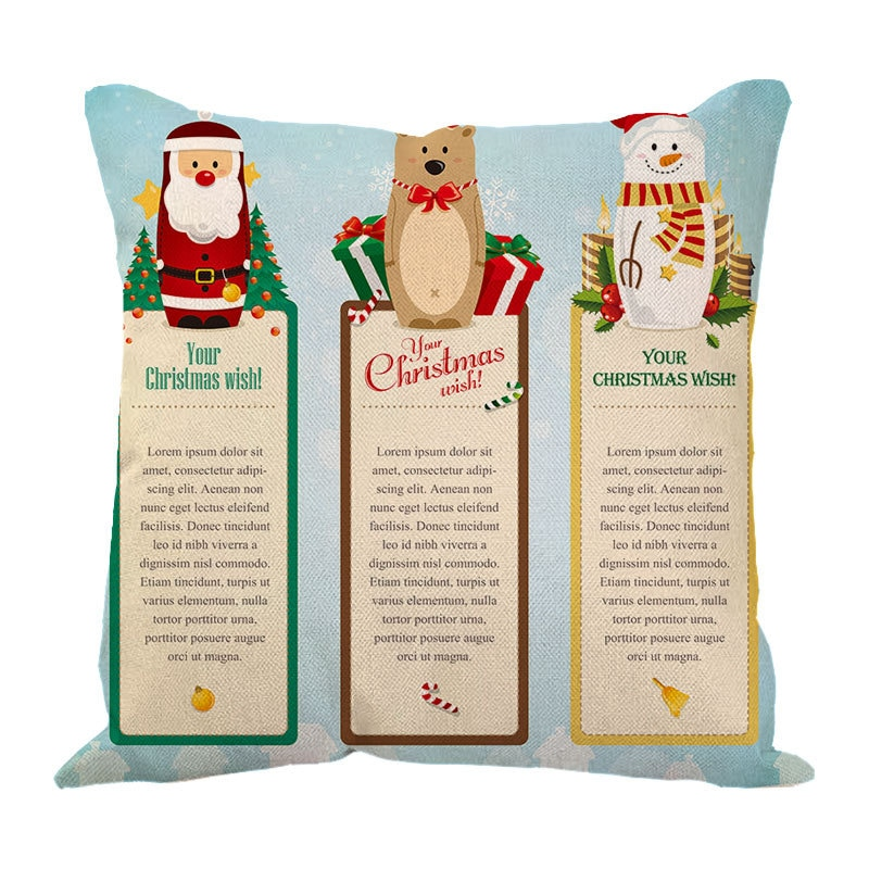عيد الميلاد كيس وسادة ندفة الثلج الرنة المخدة غطاء من الكتان للوسائد أريكة المنزل سيارة ديكور دون الأساسية WB2463