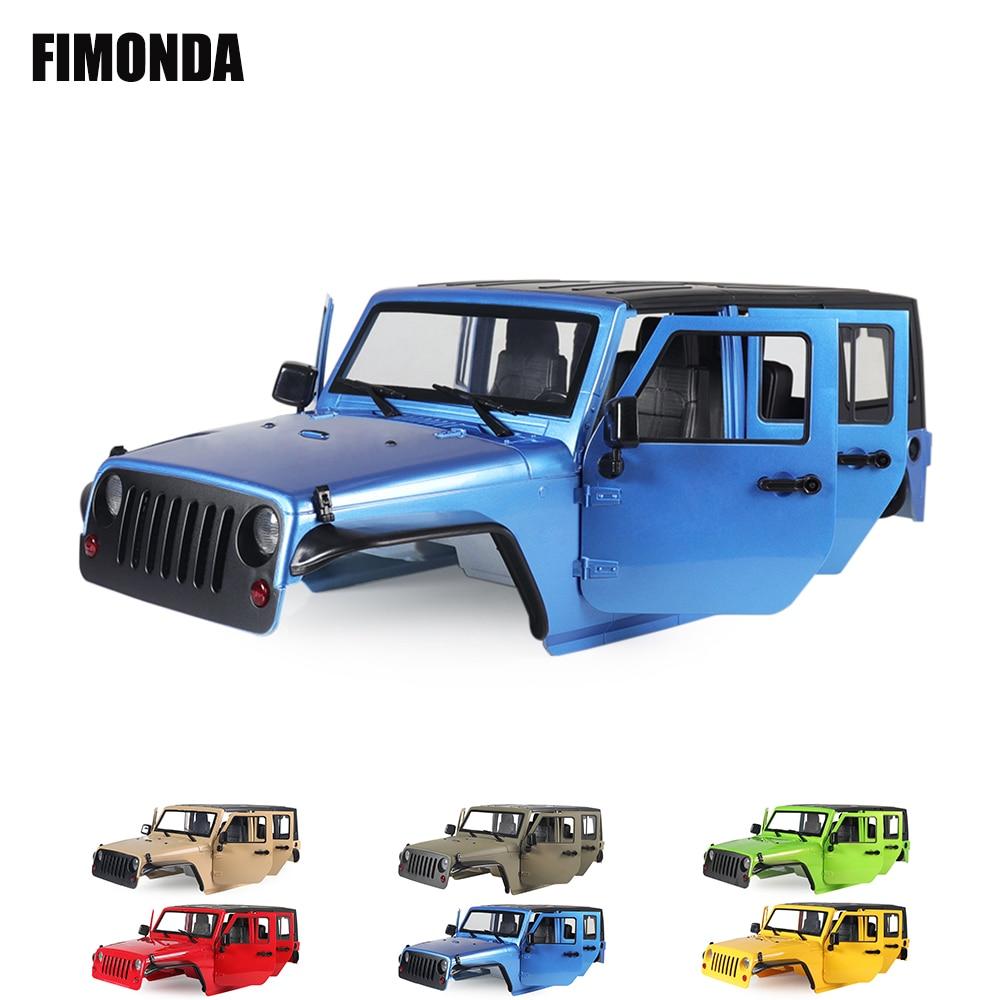 RC 1/10 Jeep Wrangler JK Rubicon 4 двери жесткого тела комплект оболочки 313 мм Колесная база для гусеничный автомобилей осевой SCX10 90046 90047 RGT EX86100