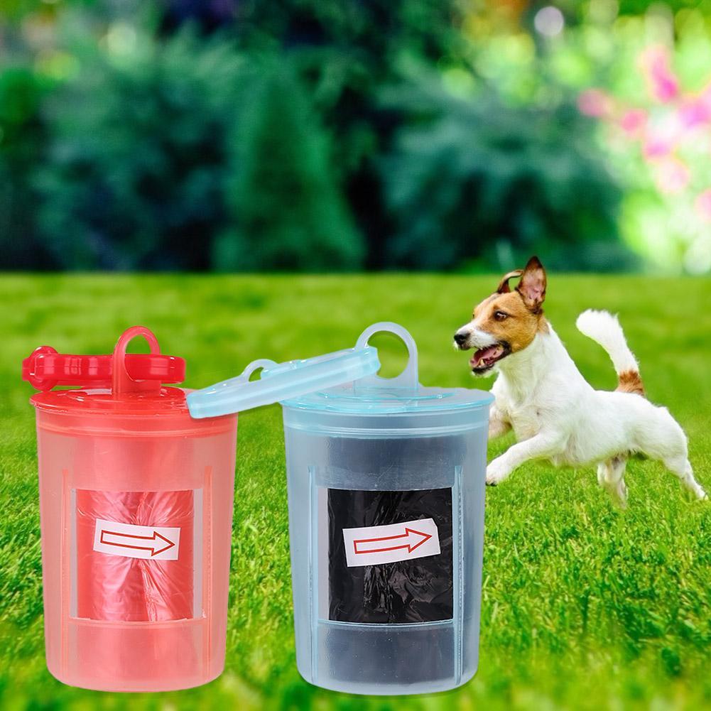 Dispensador de perros Bolsa para popó contenedor de basura herramienta de limpieza de residuos caja de almacenamiento económico para perros mascota del hogar