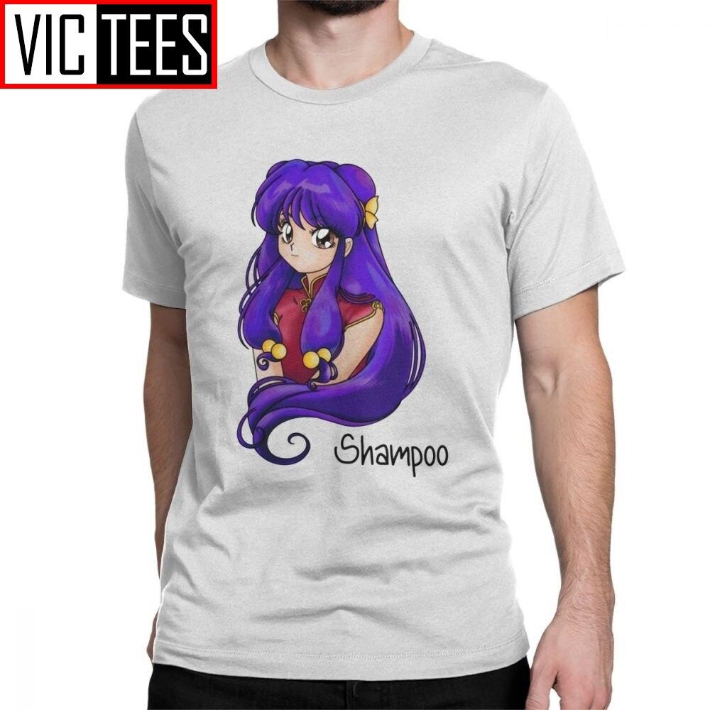 Shampoo para hombres, camiseta Ranma 12 de Anime Akane P Chan Ryoga, camisetas de Panda marciales bonitas de algodón puro, camisetas de manga corta, recién llegada, camiseta