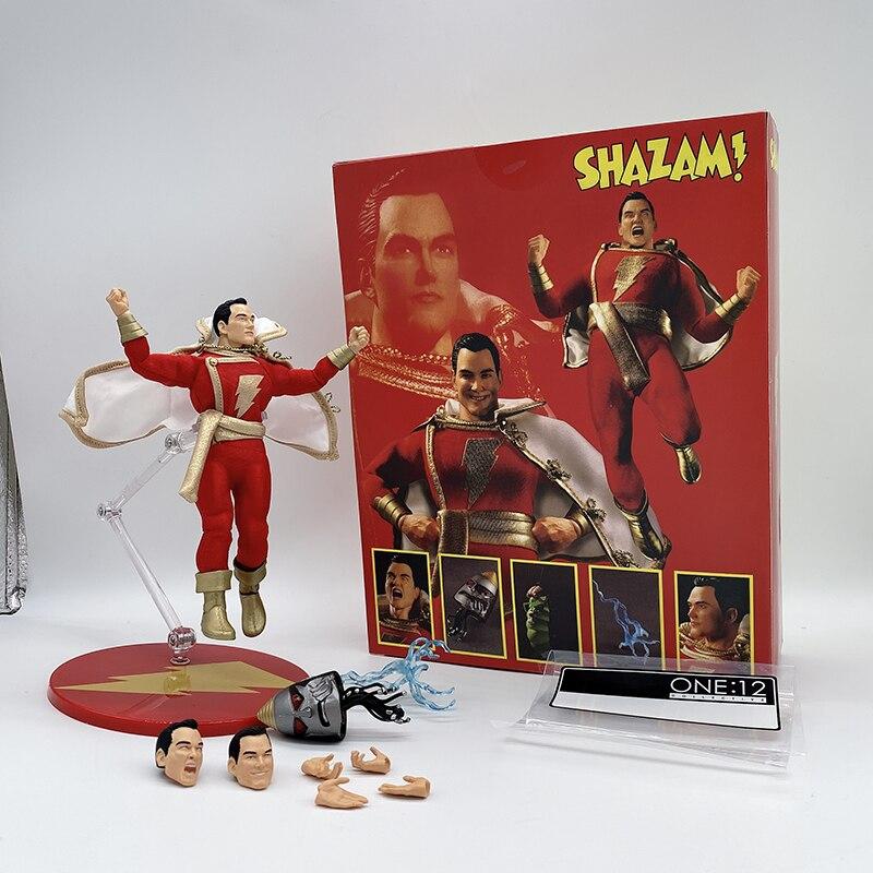 Mezco Shazam figurine daction Commoner Mezco One 12 capitaine Marvel Superman figurines jouets poupée cadeaux danniversaire 15CM