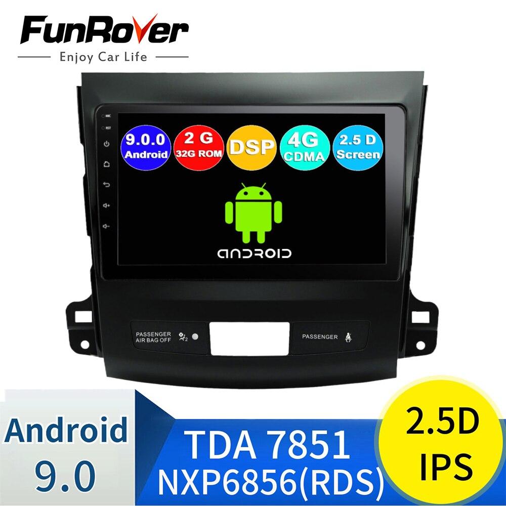 Funrover Штатное Головное устройство For Mitsubishi Outlander xl /4007 GPS Android 9.0 aвтомагнитола магнитола автомагнитолы Андроид для Мицубиси Аутлендер 2 аксесс...