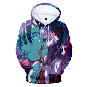 Men Hoodies Anime Re:zero Twin Maid Ram Rem 3D Print Men/women Hoodies Sweatshirts Long Sleeve 2021 Harajuku Hip Hop Pullover