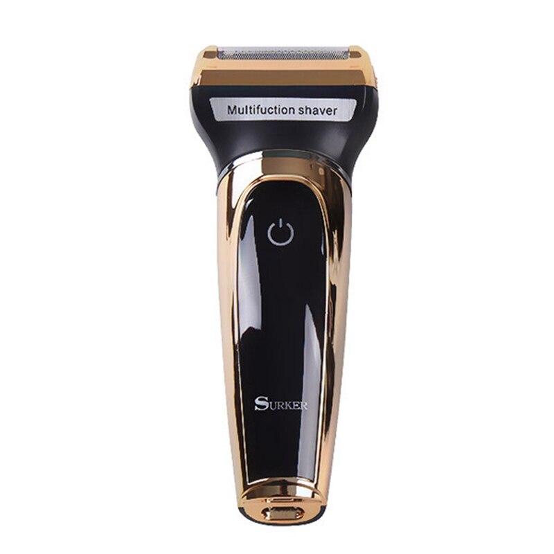 Surker Sk-903 afeitadora multifuncional eléctrica 3 en 1 alternativo de Lcd Digital de pelo de carga Usb esquina pelo de la nariz Tr