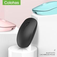 Rechargeable 2.4G Bluetooth souris sans fil double Mode bouton silencieux souris de jeu pour Mac PC Gamer bureau daffaires souris Xiaomi
