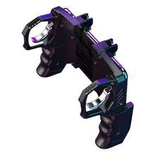 K21 PUGB aide 4 doigt tringlerie jeu poignée paix élite tir rapide bouton contrôleur pour PUBG Mobile jeu déclencheur Joystick