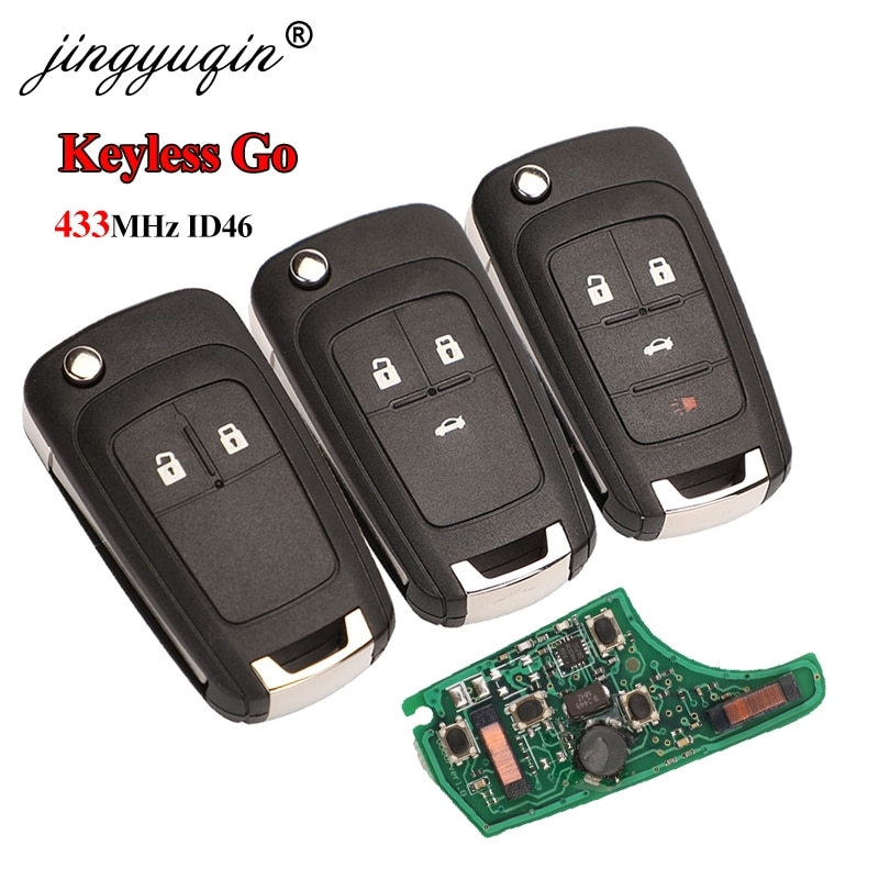 Jingyuqin, 433MHz, Chip ID46, llave remota inteligente sin llave para Chevrolet Cruze,...