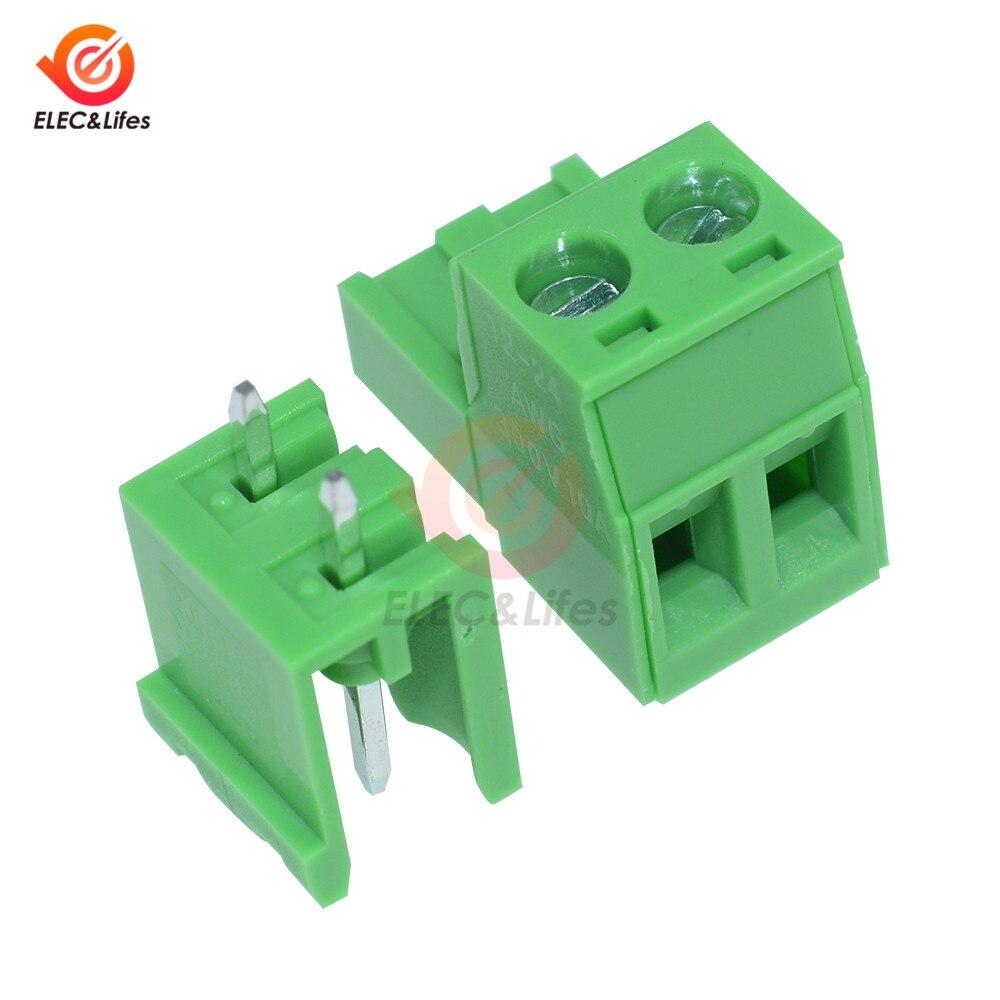 2Pin 10 Uds HT5.08 2 3 4 Terminal Tipo de enchufe 300V 10A KF2EDGK 5,08mm conector PCB bloque de terminales de tornillo