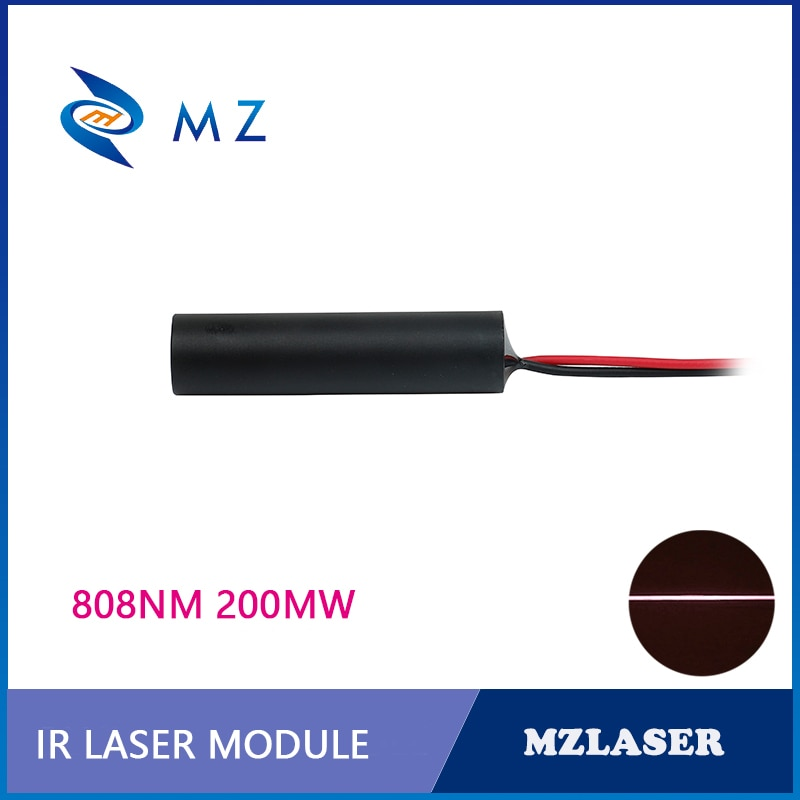 IR Line Laser Module 120 Degree D12mm 808nm 200mw ACC Drive Robot Sensor Laser Module
