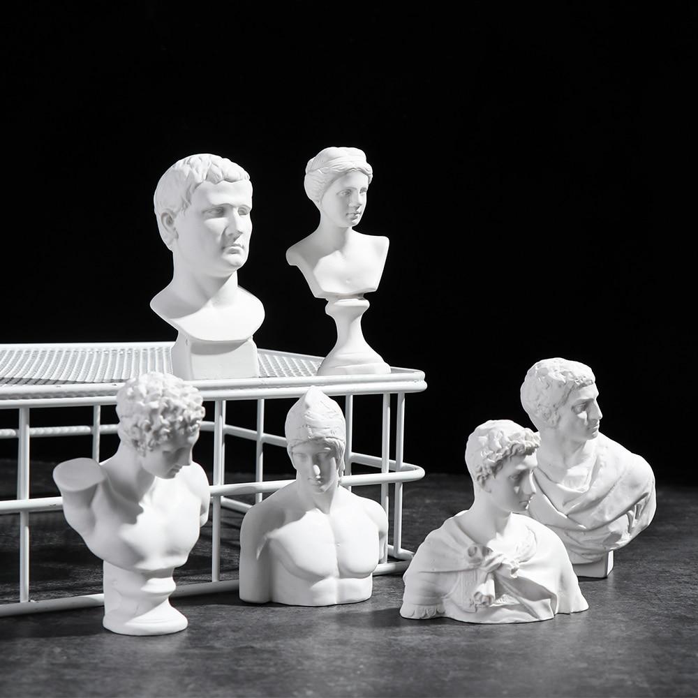 Давид головные портреты греческая мифологическая Статуэтка мини-пластырь бюст статуя гипсовая Рисование Практика ремесла знаменитая скульптура нордическая