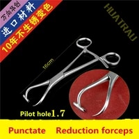 orthopedic instrument medical multi function with hole guide point tip reduction forcep punctate kirschner pin guider drill pet