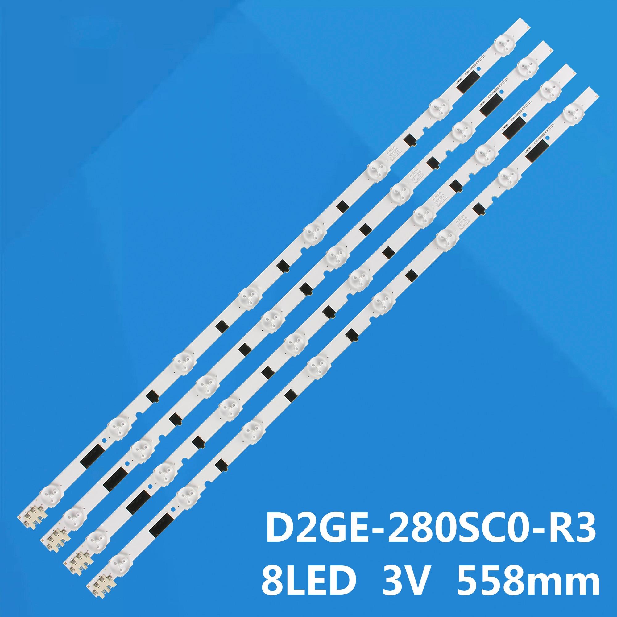 Nuevo 4 Uds * 8LEDs, 558mm retroiluminación LED D2GE-280SC0-R3 2013SVS28H para sam sung UA28F4088AR UE28F5000 UE28F4000AS HG28EB670 UE28F4000