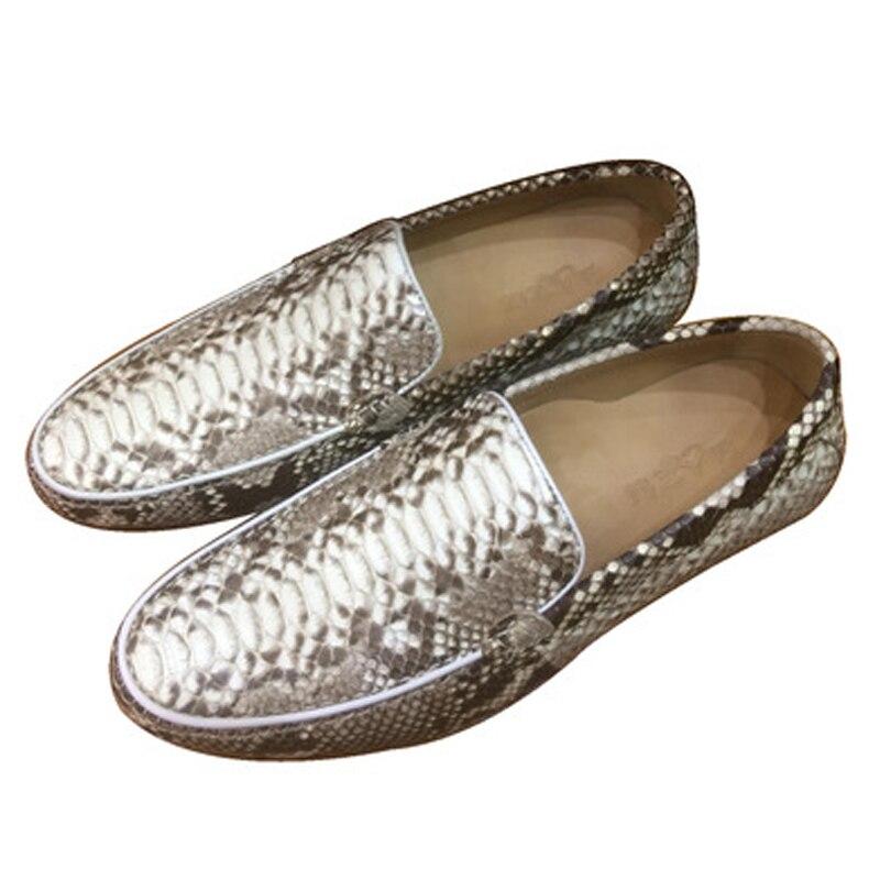 Shenzhen dae-بيثون أحذية جلدية للرجال ، أحذية ترفيهية ذات وجه ناعم ، جلد بيثون دوغ ، للقيادة