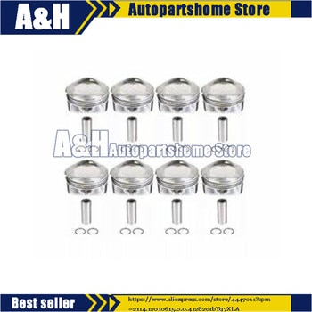 8pcs Engine Pistons W Pins Half Rings Fit For Ranger Rover /Sport 5.0T 508PS 10-18