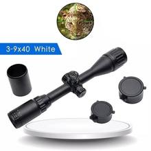 3-9x40 Optical Riflescope R/G/B Illuminated Mil-Dot Reticle Rifle Scope Hunting Sniper Scopes Luneta Para Rifle