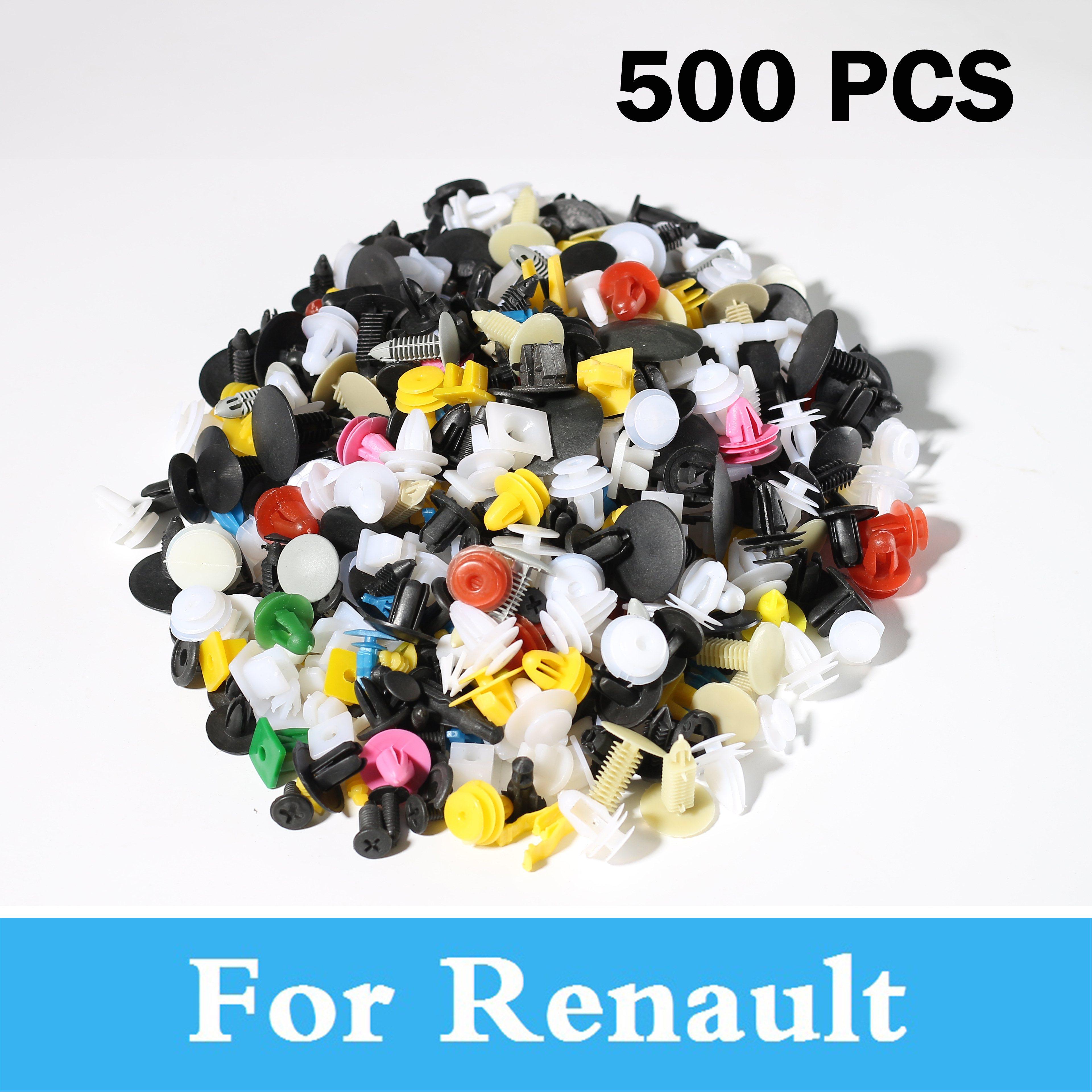Nouveau 500 pièces voiture style garniture de porte panneau pare-chocs Rivet retenue pour Renault Clio V6 Fluence Rs Koleos Kadjar Duster Captur