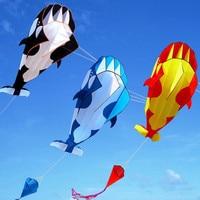 Воздушный змей-дельфин, Мягкий Нейлоновый воздушный змей Летающий змей из ткани, анимированный воздушный змей, рыбалка надувной змей, игруш...