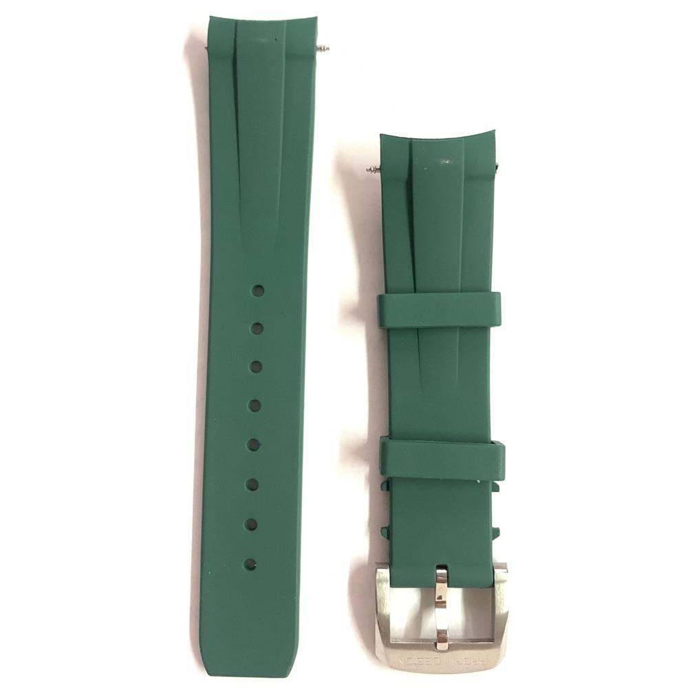Новый дизайн 2021 г., мужской резиновый U-Образный Ремешок PAGANI 20 мм, подходит для оригинальных ремней PD1661, PD1662, PD1667, PD1644, PD1651
