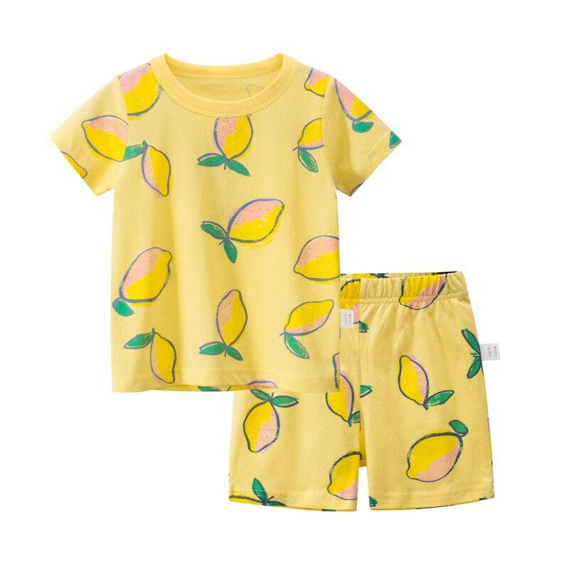LZH детская одежда для девочек, пижамный комплект, летние хлопковые свободные топы с милым принтом, шорты, наряды, одежда для сна, ночная рубашка, Детская домашняя одежда|Комплекты пижам| | АлиЭкспресс
