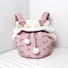 Bolsa de dormir caliente semicerrada para Gato al aire libre correa de transporte rosa