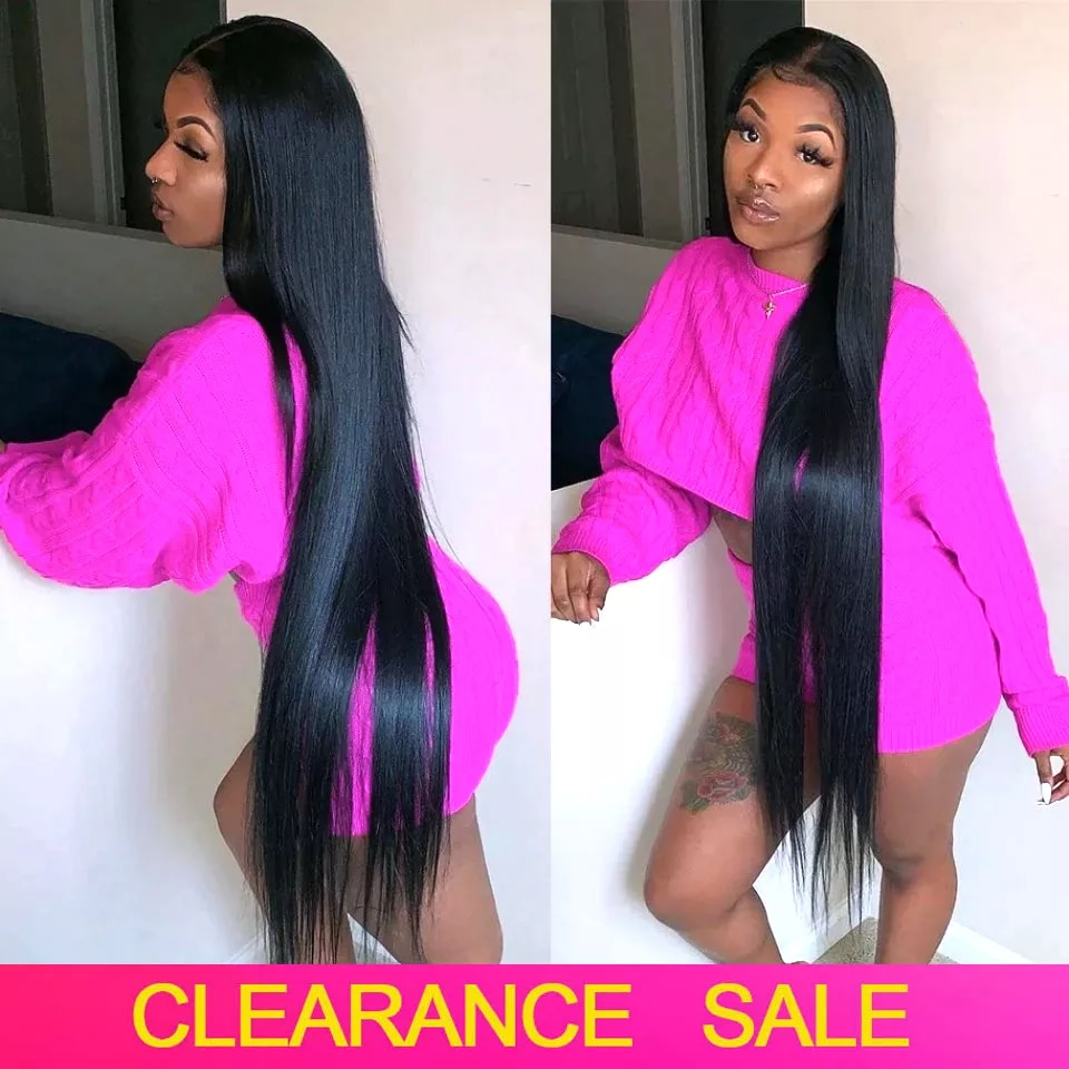 180 Density 32 30 Inch Bone Straight Lace Front Human Hair Wigs Transparent Lace Frontal Wigs Brazilian Human Hair Wig For Woman