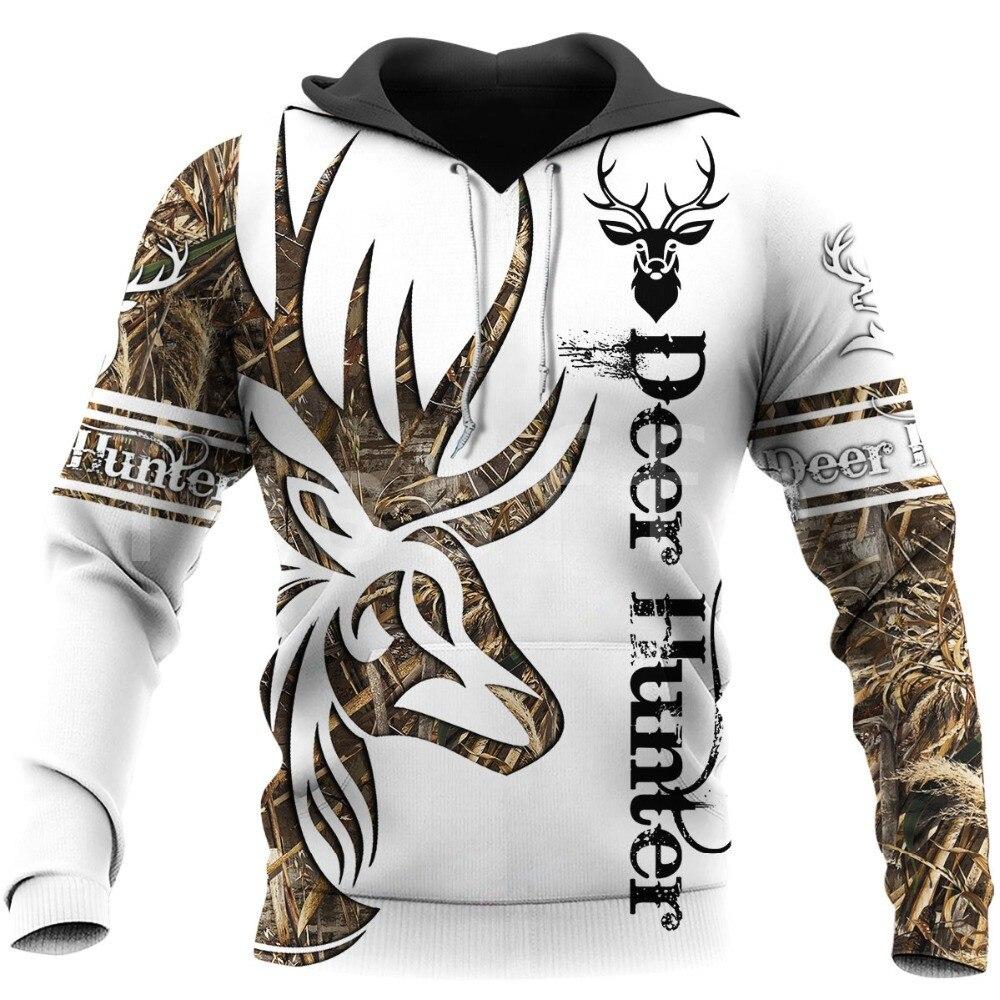 Tessffel animal veados caçador caça camo agasalho pulôver newfashion unisex casual 3 dprint moletom/hoodies/zíper/jaqueta s9