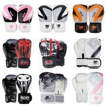 SUOTF MMA Dragon guerrier boxe sport gants en cuir tigre Muay Thai tampons de boxe combat femmes/hommes sanda boxe thai boîte à gants mma