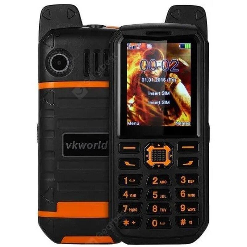 Vkworld Stone V3 Plus batería portátil resistente al agua, linterna para teléfono móvil, altavoz grande, dual-sim, MP3, exteriores, móvil resistente de 2,4 pulgadas