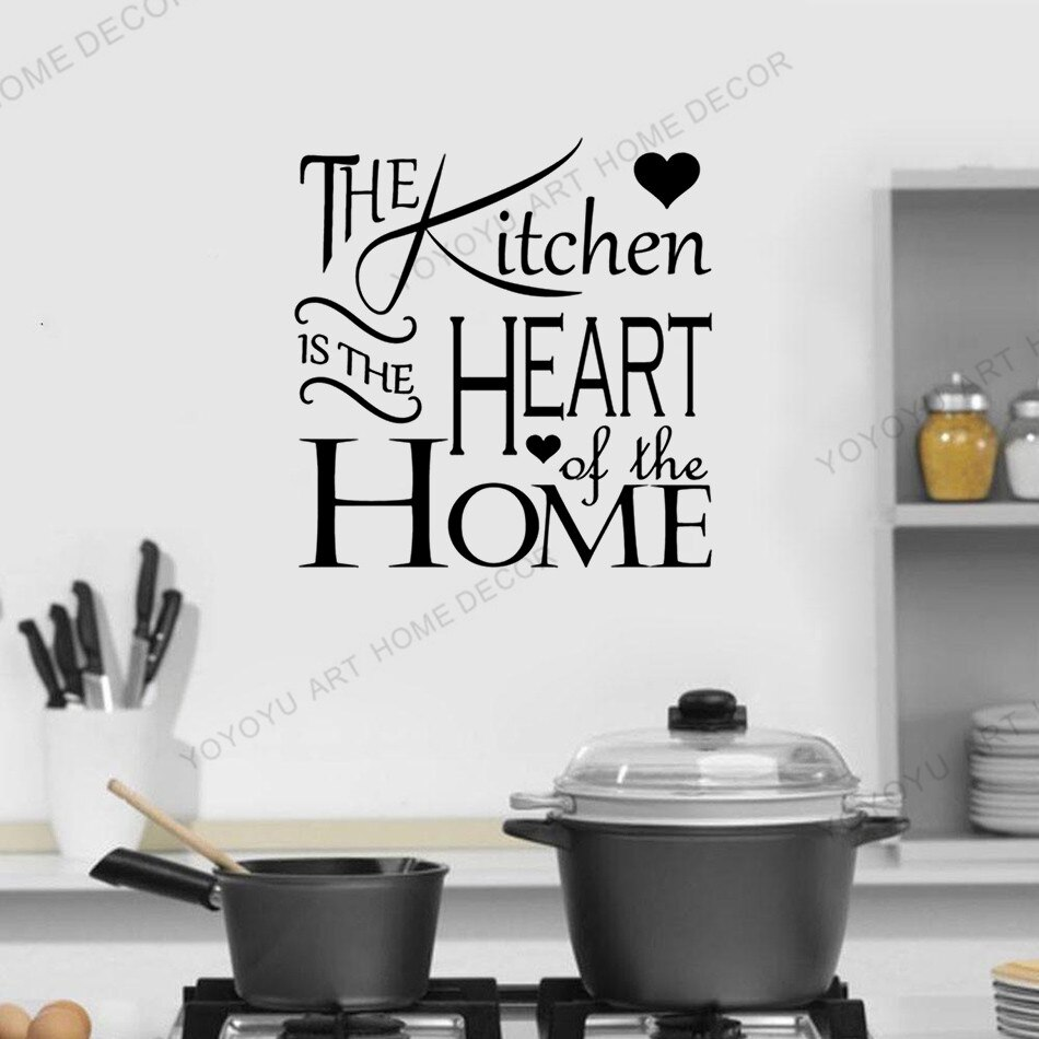 Yoyoyu caliente cocina cita papel tapiz murales calcomanía de vinilo para pared decir Comedor Cocina hogar arte pegatinas Mural extraíble rb327