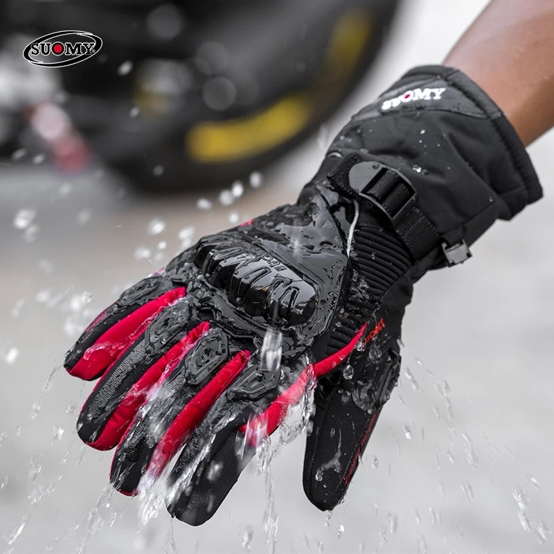 SUOMY Motorcycle Gloves 100% Waterproof Windproof Winter Warm Guantes Motor Luvas Touch Screen Motosiklet Eldiveni Protective enlarge