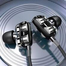 Quad-Core Bass Dubbele Moving Coil Kip Spel Hoofdtelefoon K Lied In-Ear Bass Met Tarwe Draad Met tarwe Oordopje