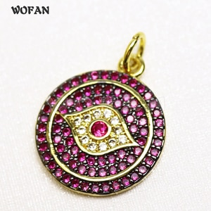 10 Pieces Eye Pendants Shinning Colors Zircon Summer Colors Jewrly Fashion Jewelry Accessories 58010