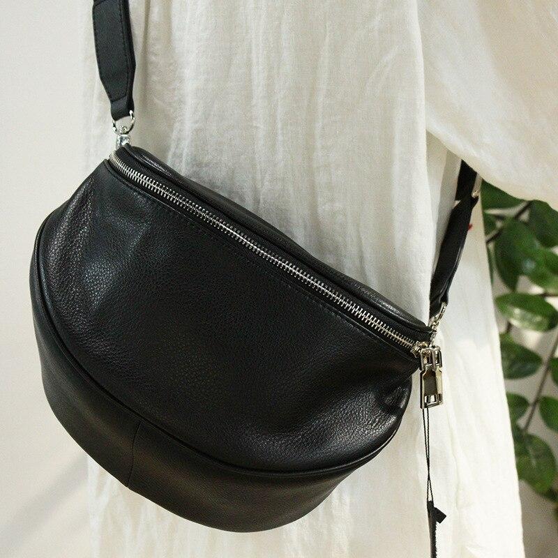 حقيبة صدر للرجال نصف مستديرة السرج حقيبة كروسبودي حقيبة ميناء نمط حقيبة كتف الموضة عادية