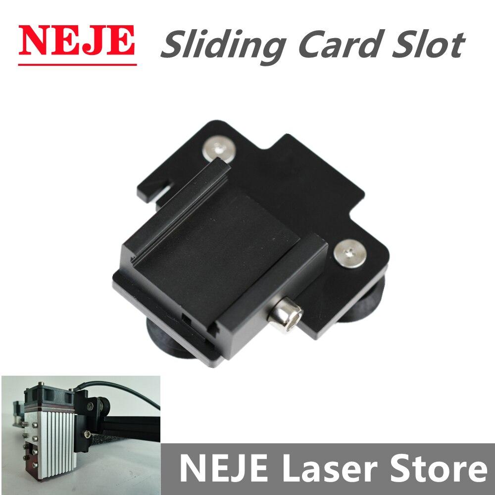 Slot para Cartão Kits de Atualização para Mestre Máquina de Corte Gravador a Laser Neje Módulo Laser Polia Deslizante Fixo Titular 2s