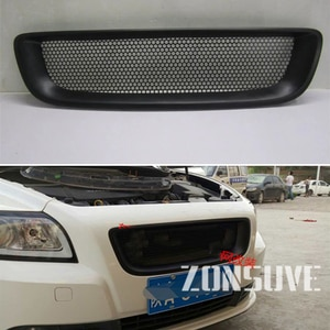 Use For Volvo S40 2007--2012 Year Carbon Fibre Refitt Front Center Racing Grille Cover Accessorie Body Kit Zonsuve