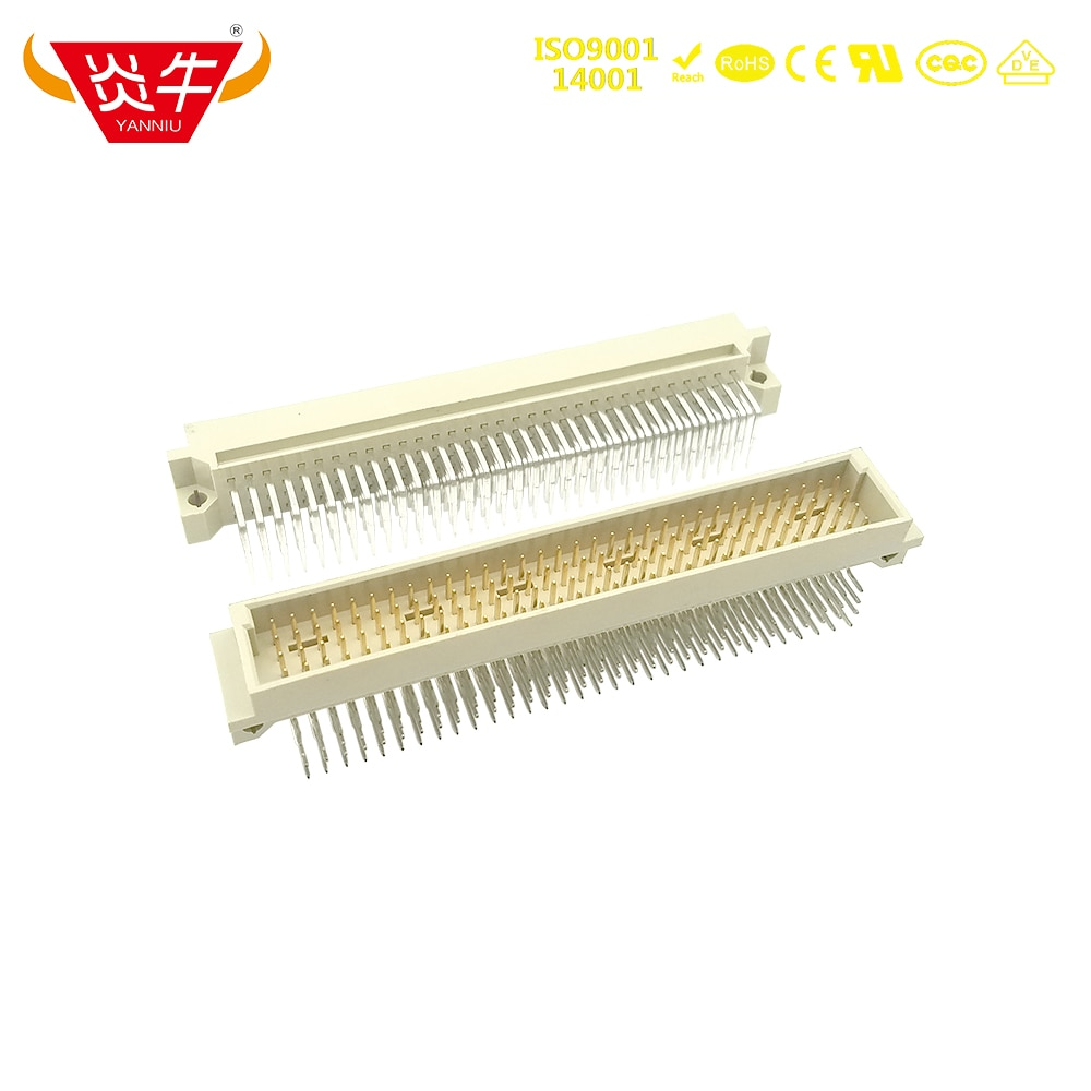 4128 DIN 2.54mm Pitch 4Row CONNECTOR 4x32P 128PIN MALE RIGHT ANGLE PINS EUROPEAN SOCKET 24128 221281 1100-4128R YANNIU