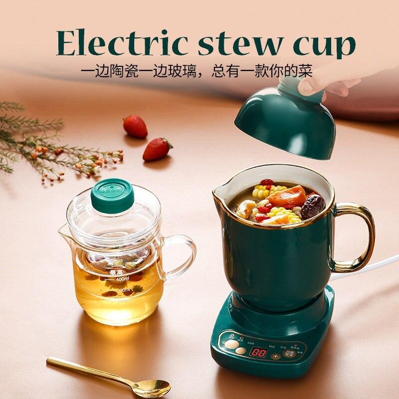 110 В американская здоровая электрическая чашка для тушения подарок для офиса маленькая чашка для чая и каши с подогревом воды