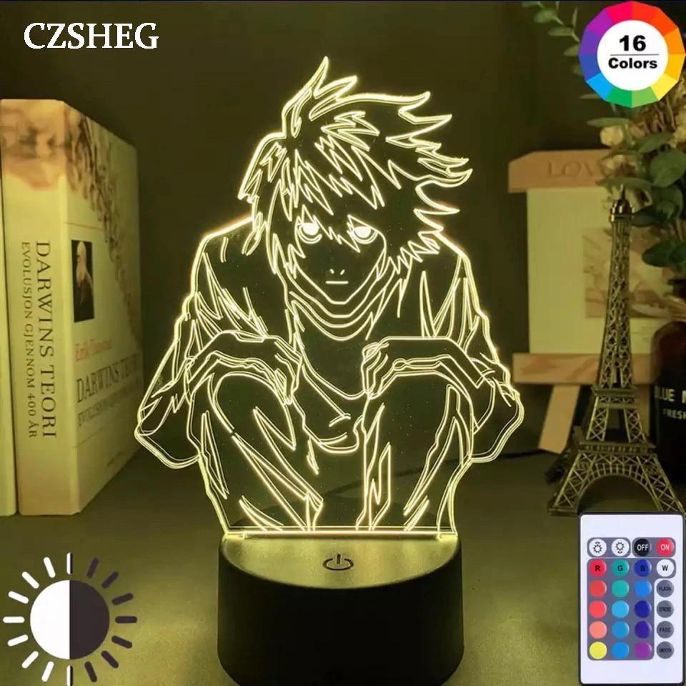 tafel lampada ryuk f led para decoracao inspiracao legal para criancas anime kamer inclinacao