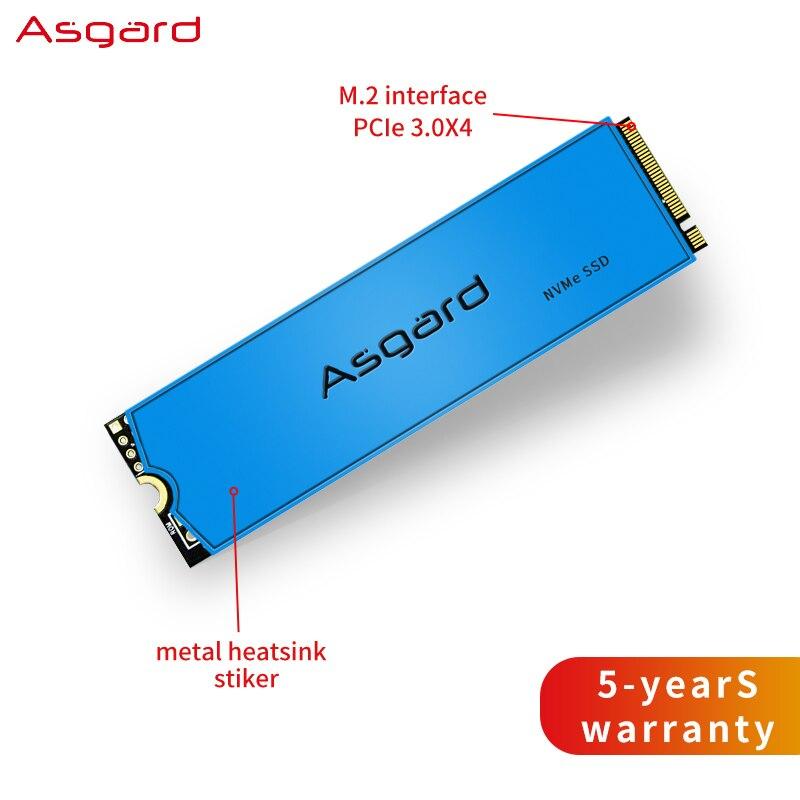Asgard M.2 ssd M2 PCIe NVME 1 ТБ 2 ТБ твердотельный накопитель 2280 внутренний жесткий диск для ноутбука с Кэш-памятью