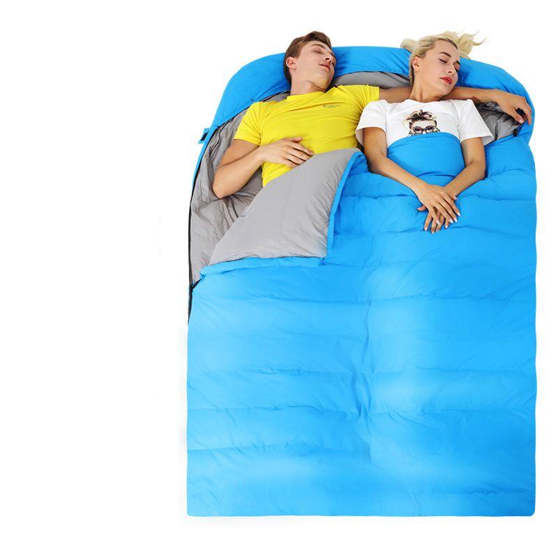 Down double sleeping bag outdoor adult camping camping lunch break sleeping bag