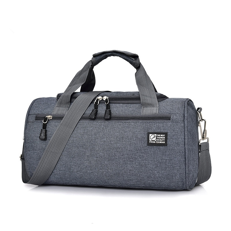 Nylon Travel Bag Men Casual Shoulder Cylinder Sports Bag Luggage Bag Outdoor Duffel Weekend Dropshop