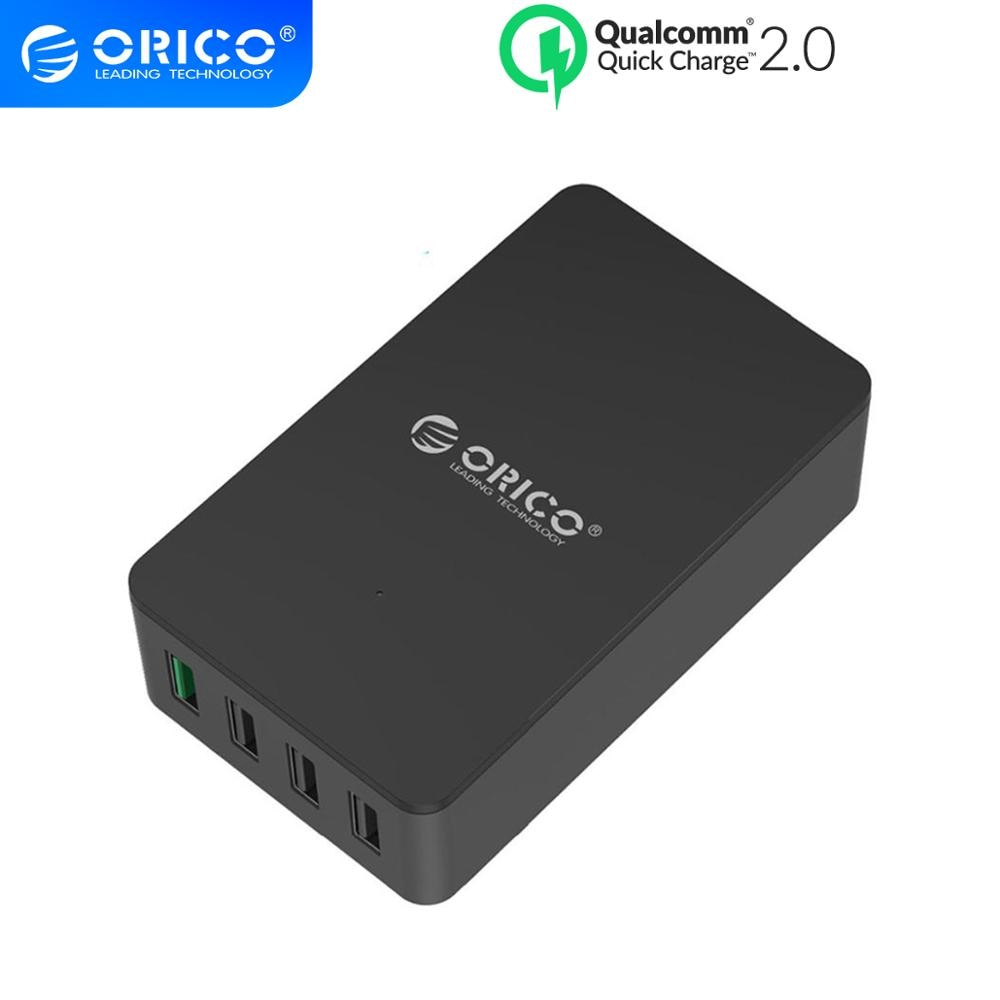 Orico 4 portas qc2.0 desktop carregador de parede usb adaptador de energia do telefone inteligente para iphone samsung xiaomi huawei lg htc tablet