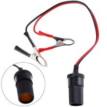 Newest Hot 12 Volt Battery Terminal Clip-on Cigar Cigarette Lighter Power Socket Adapter Plug Car Bo