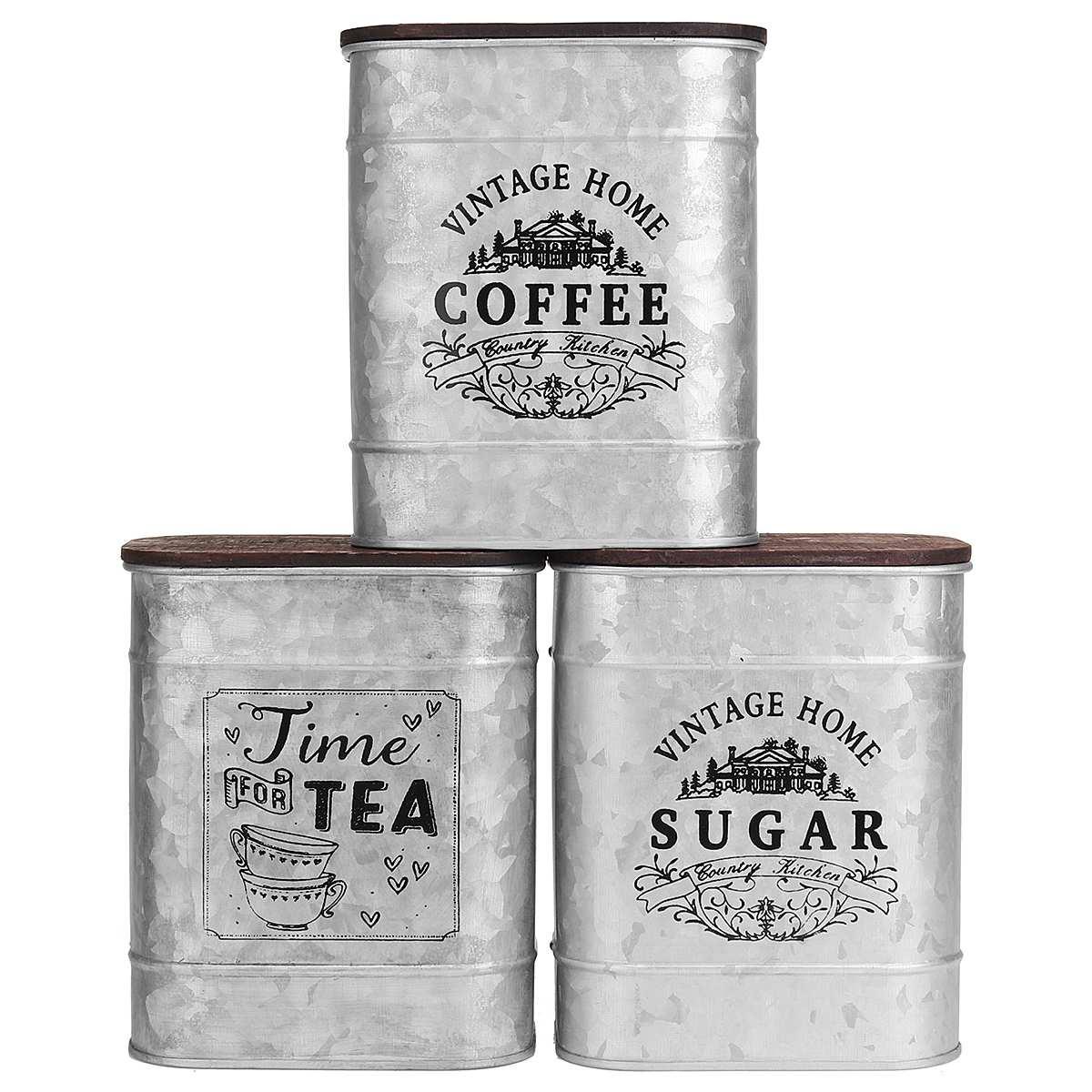 Hermético, sellado, Café en lata, contenedor de harina de azúcar, lata, frascos de botellas de almacenamiento para café de grano, tarro de caramelos, caja, contenedor de cocina