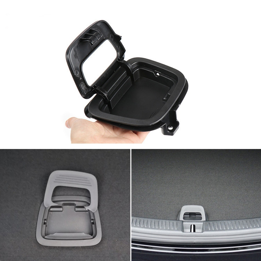 Car Trunk Mat Floor Handle Cover For Mercedes Benz E Class CLS W213 W238 W257 201-2021 Rear Luggage Handle Black